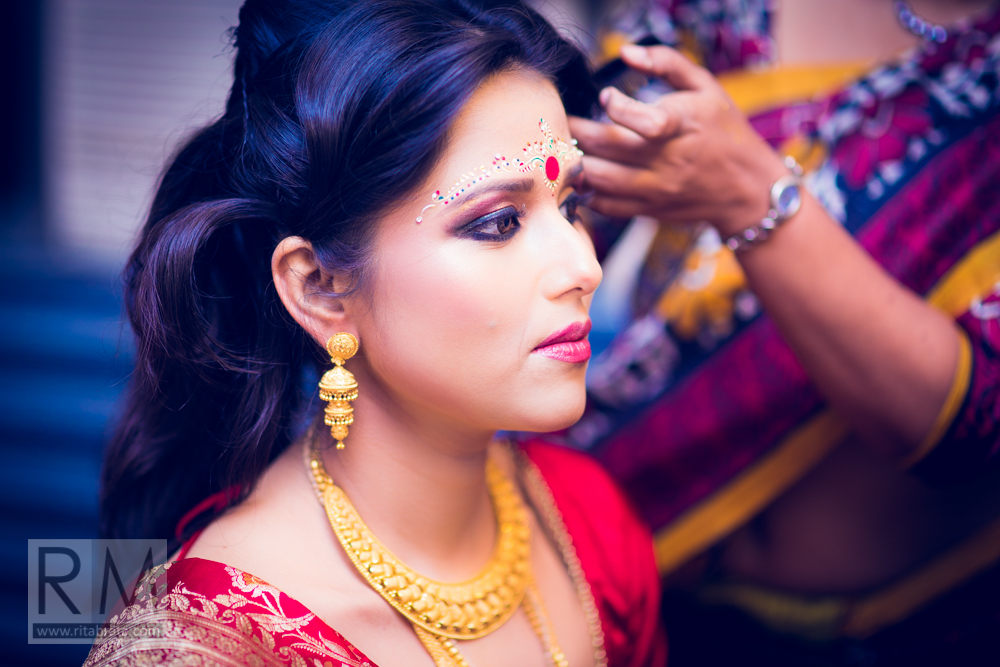 Bengali bride getting ready pics