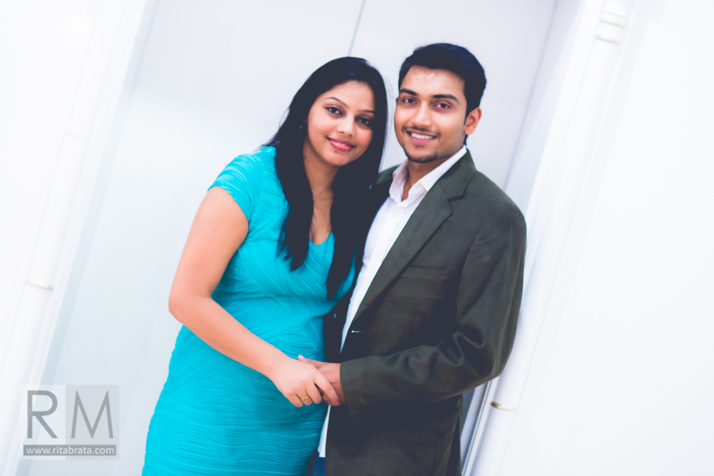 pre wedding indoor couple shoot